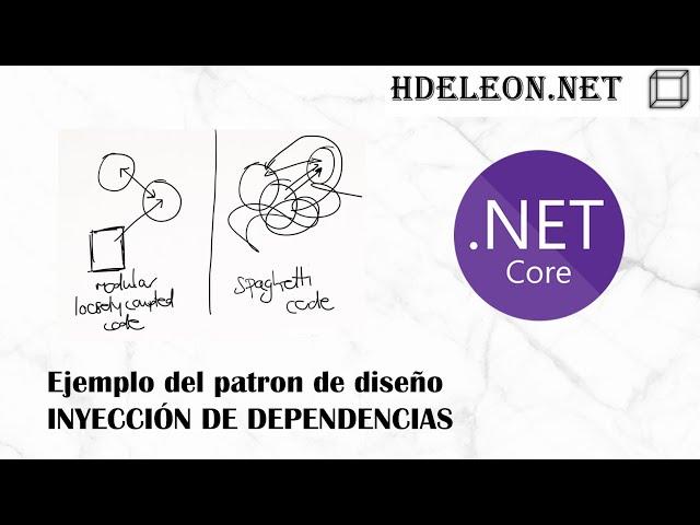 Patrón de diseño inyección de dependencias   Ejemplo en MVC .Net Core 💉