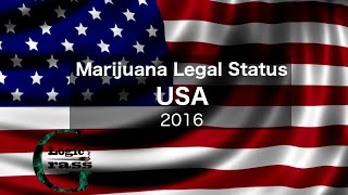 Marijuana Legal Status USA 2016