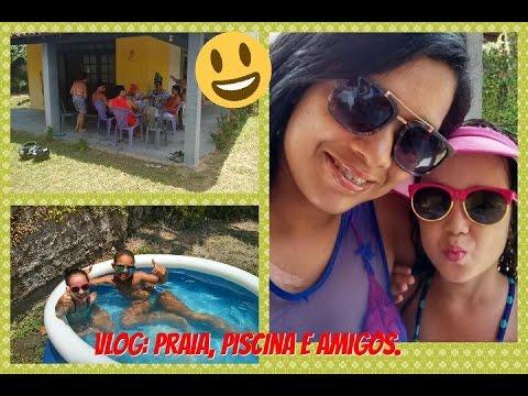 Vlog praia piscina com amigos youtube for Vlog in piscina