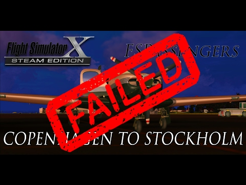 Lets Play: FSX with FSPassengers#7 Copenhagen to Stockholm