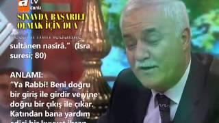 Sınavda Başarılı Olmak için Dua - Nihat Hatipoğlu www.dinihocam.blogspot.com