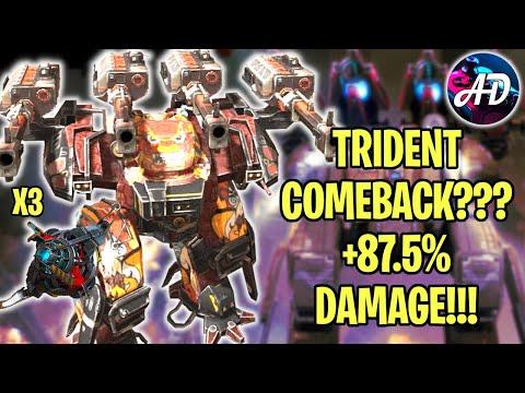 TRIDENT COMEBACK ?? BEHEMOTH TRIDENT 3X OVERDRIVE UNIT +87.5% DMG   War Robots MK2 WR Gameplay