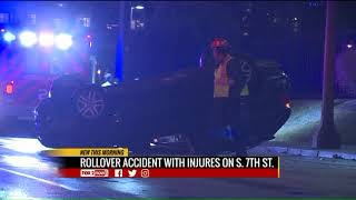 Rollover accident in south St. Louis