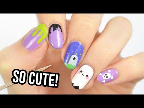 Cute Nail Art 2020   Fun & Easy Halloween Nail Designs Using A Toothpick!