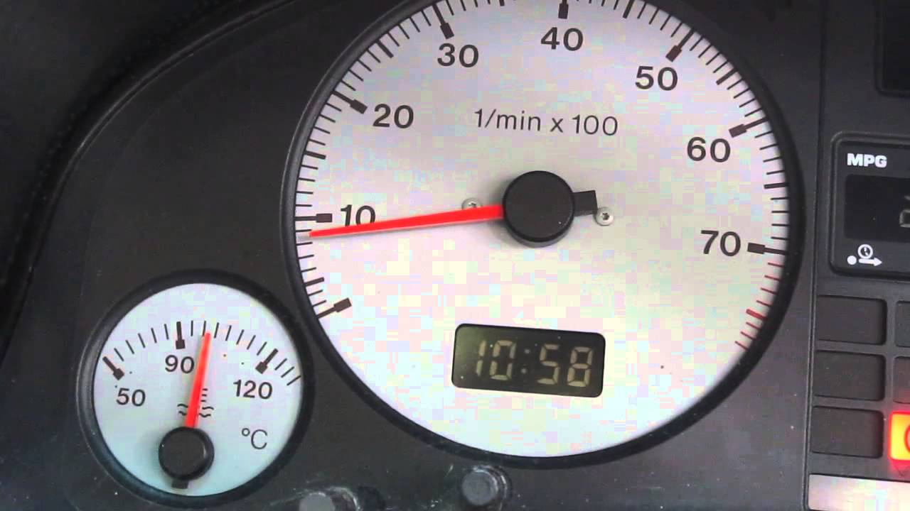 audi  aby engine coolant temp increase  idle youtube