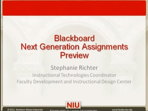 Blackboard Next Generation Assignments Preview