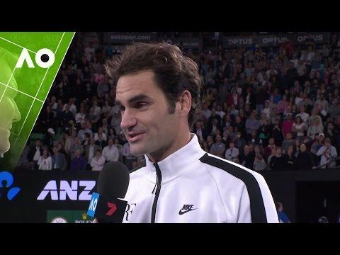Roger Federer on court interview (3R) | Australian Open 2017