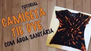 3797a6a9a7 como fazer camiseta tie dye com Água sanitÁria bleach shirt