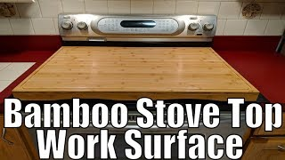 Camco 43548 Bamboo Stove Top Work Surface for 4 Burner Stove