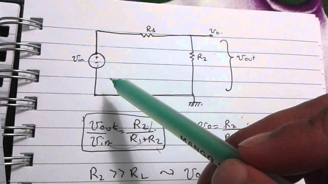 Derivation Of The Voltage Divider Equation Youtube Dividers