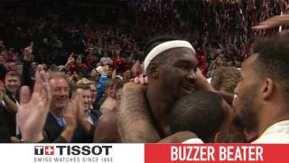 Tissot Buzzer Beater: Noah Vonleh Gets Lucky Game-Winner! | April 10, 2017