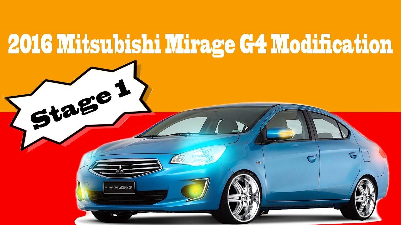 Stage 1 Modification For Mitsubishi Mirage G4 Sedan