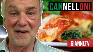 Spinach And Ricotta Cannelloni, Italian Recipe - Gianni's North Beach