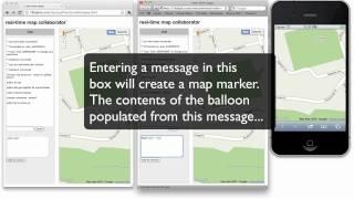 Real-time web - Maps Mashup - NodeJS