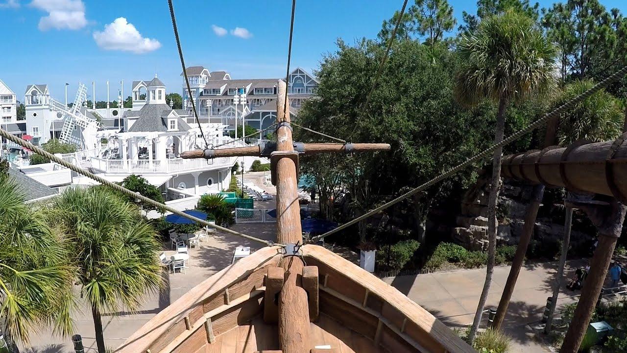 Beach Club Pool Pirate Ship