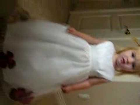 Sam in Bridesmaid Dress