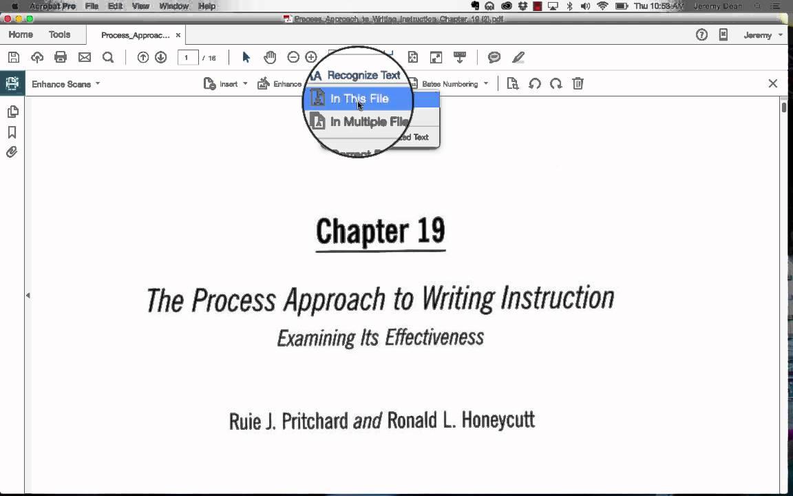 OCRing a PDF using Adobe AcrobatPro