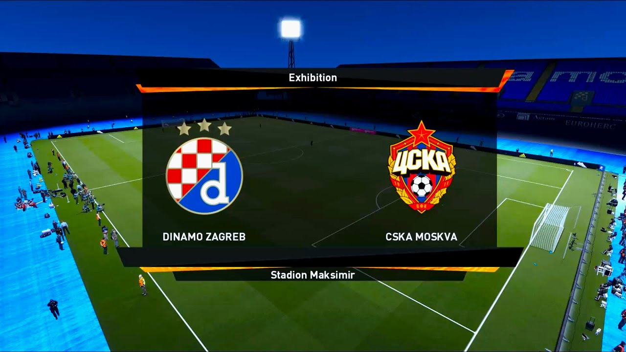 Dinamo Zagreb Vs Cska Moscow Stadion Maksimir Uefa Europa League Pes 2021 Youtube