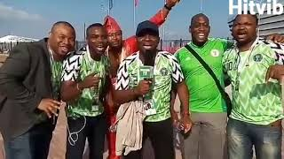 Super Eagles' fans chanting in Russia