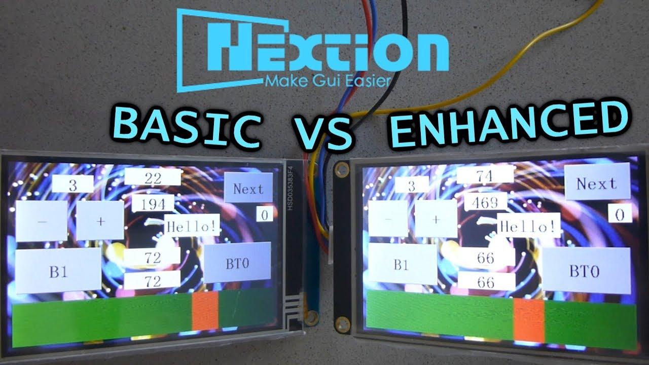 Nextion Display: Basic or Enhanced?
