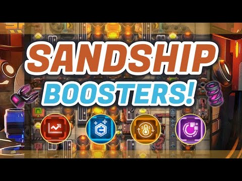 Sandship Crafting Factory: Everything you need to know about BOOSTERS! [HD]