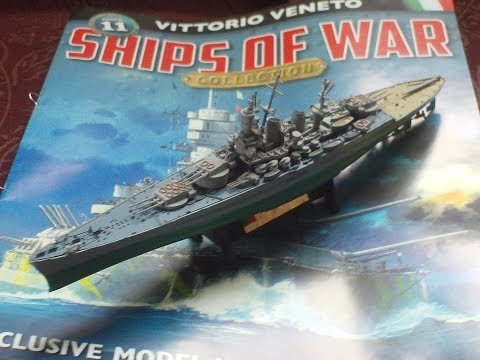 REVIEW,SHIPS OF WAR COLLECTION PART 11,VITTORIO VENETO,1943 1/1000 SCALE MODEL