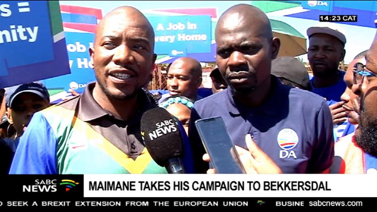 Download DA leader Mmusi Maimane campaigns  at Bekkersdal