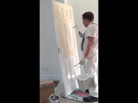 how to paint a 6 panel door the easy way youtube