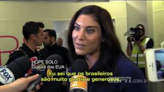 Brazilian women soccer players criticize Hope Solo, says sorry.