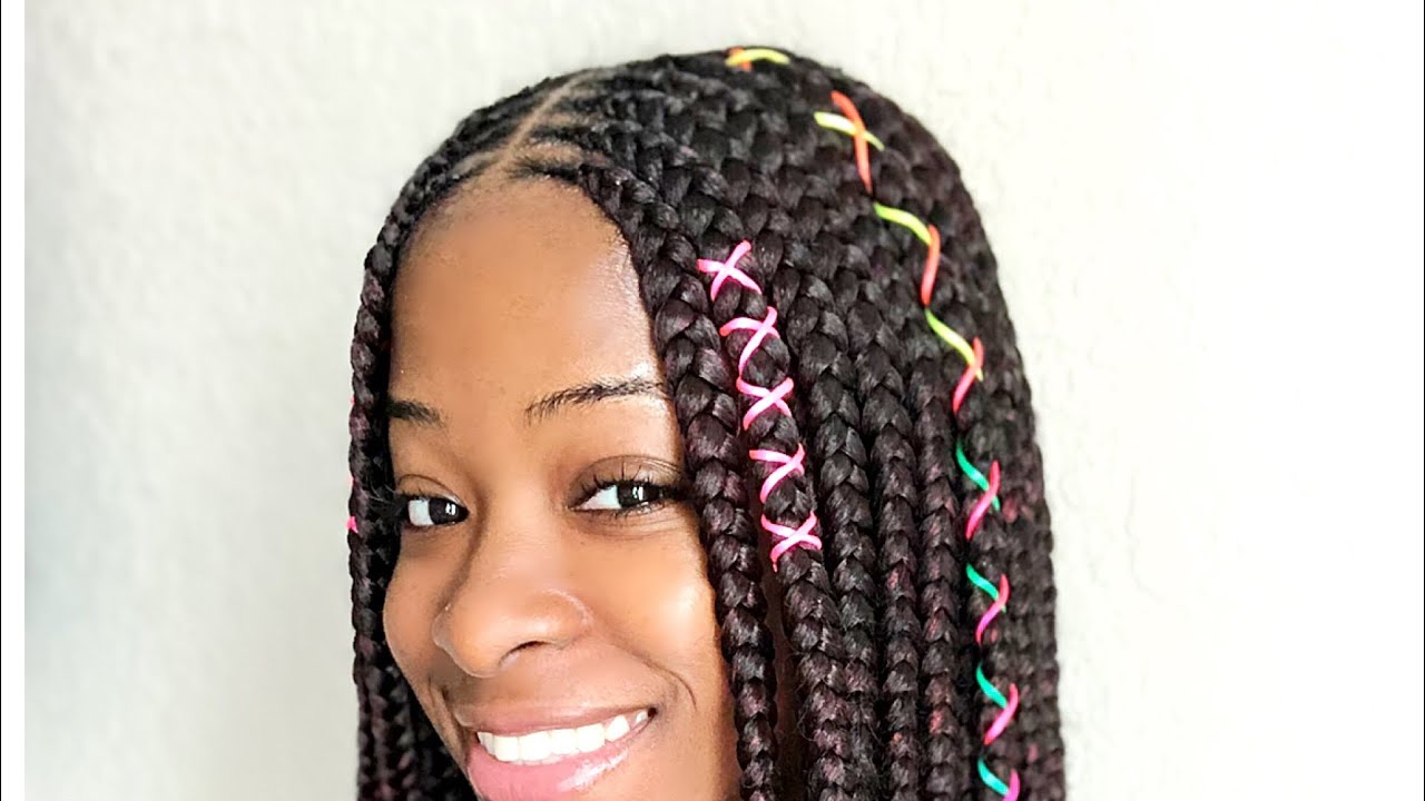 Jumbo Goddess Box Braids 3 Layer Feedin Braids Youtube