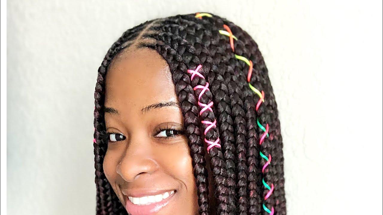 jumbo goddess box braids (3 layer feedin braids)