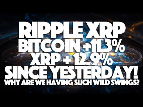 Ripple XRP: Bitcoin +11.3% XRP +12.9% Since Yesterday. Why Are We Having Such Wild Swings?