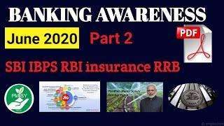 June 2020 Banking Awareness|banking Awareness For Sbi Clerk 2020|rbi 2020