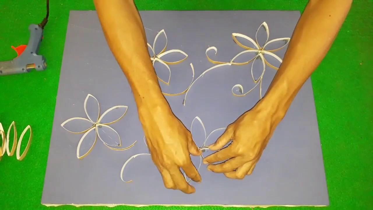 Diy daur ulang rol tisu gulungan menjadi hiasan dinding youtube diy daur ulang rol tisu gulungan menjadi hiasan dinding thecheapjerseys Gallery