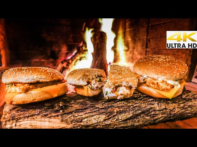 BEST HOMEMADE FILET-O-FISH 🍔Wild-Caught SeaBass - Perfect Sauce |Spearfishing Life 🇬🇷 [4K]✅