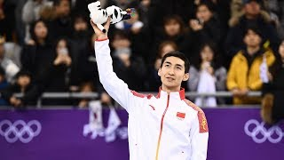 Exclusive: Wu Dajing talks about winning the gold in short track speed skating 500m race