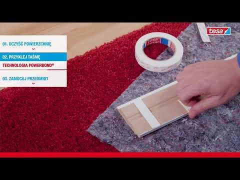 Instrukcja użycia Taśmy Montażowej tesa Powerbond® 10 kg/m, Tapeta i Tynk