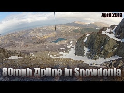 Gopro: 80mph, longest zipline in Europe; Zip World UK, Snowdonia, Wales