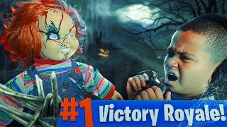 10 YEAR OLD KID GETS SCARED BY CHUCKY DOLL WHILE PLAYING FORTNITE PRANK!!! (GONE WRONG!) | MindOfRez
