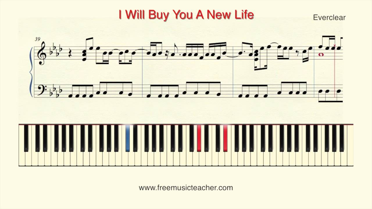 How to play piano i will buy you a new life by everclear youtube how to play piano i will buy you a new life by everclear hexwebz Image collections