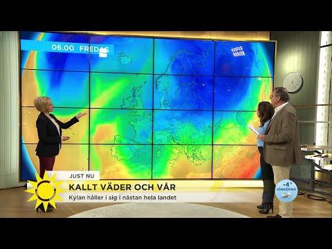 """Kylan håller i sig – """"Svinkallt även i södra Sverige nästa vecka"""" - Nyhetsmorgon (TV4)"""