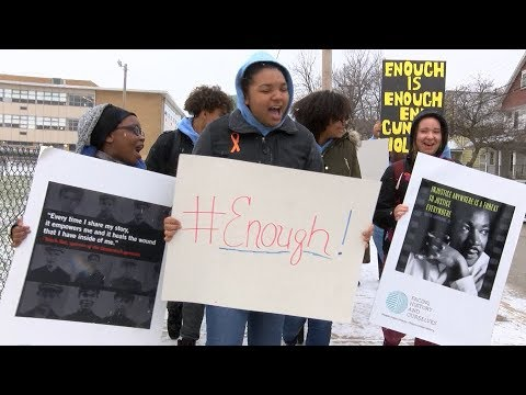 Cleveland students participate in National School Walkout Day to protest gun violence