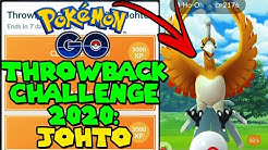 Pokemon Go Throwback Challenge 2020: Johto Ho-oh Special Research