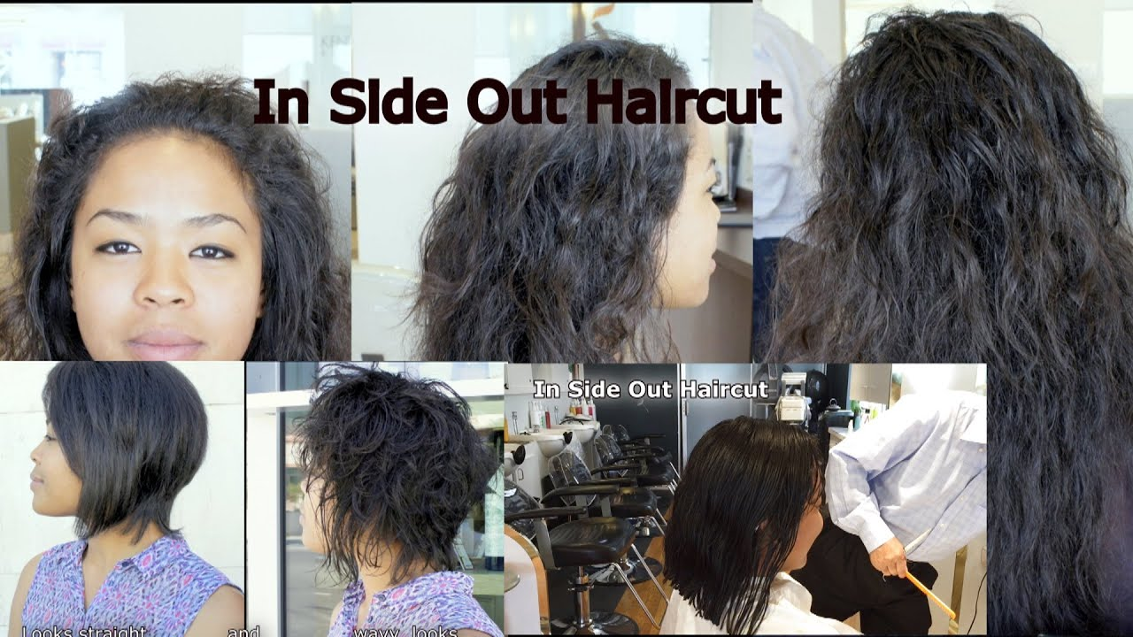 mogi hair: inside out haircut how to control thick curly hair - youtube