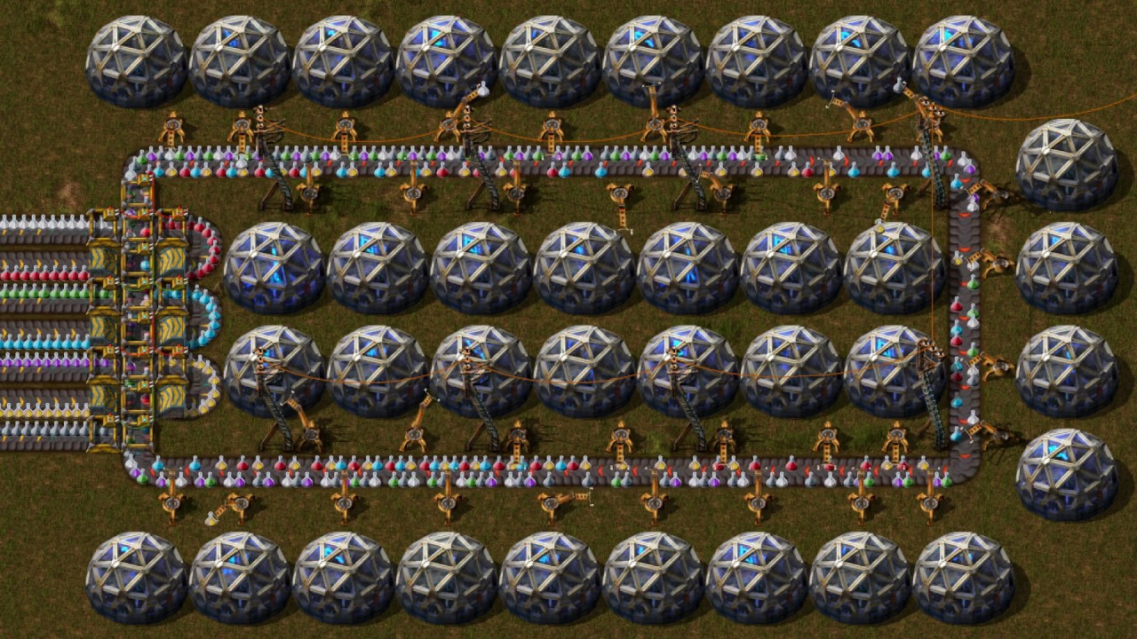 Factorio   7 Science Pack Sushi Belt