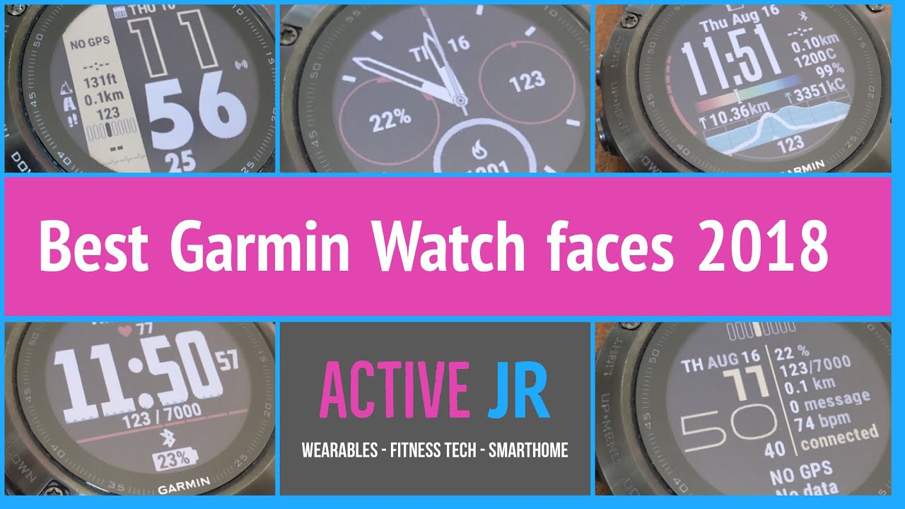 Top 5 Garmin Fenix 5 watch faces from Garmin Connect | Active JR
