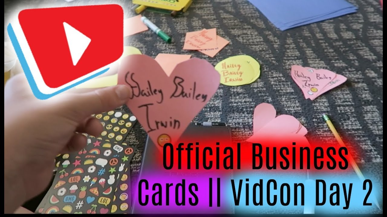 Official business cards vidcon day 2 youtube official business cards vidcon day 2 colourmoves