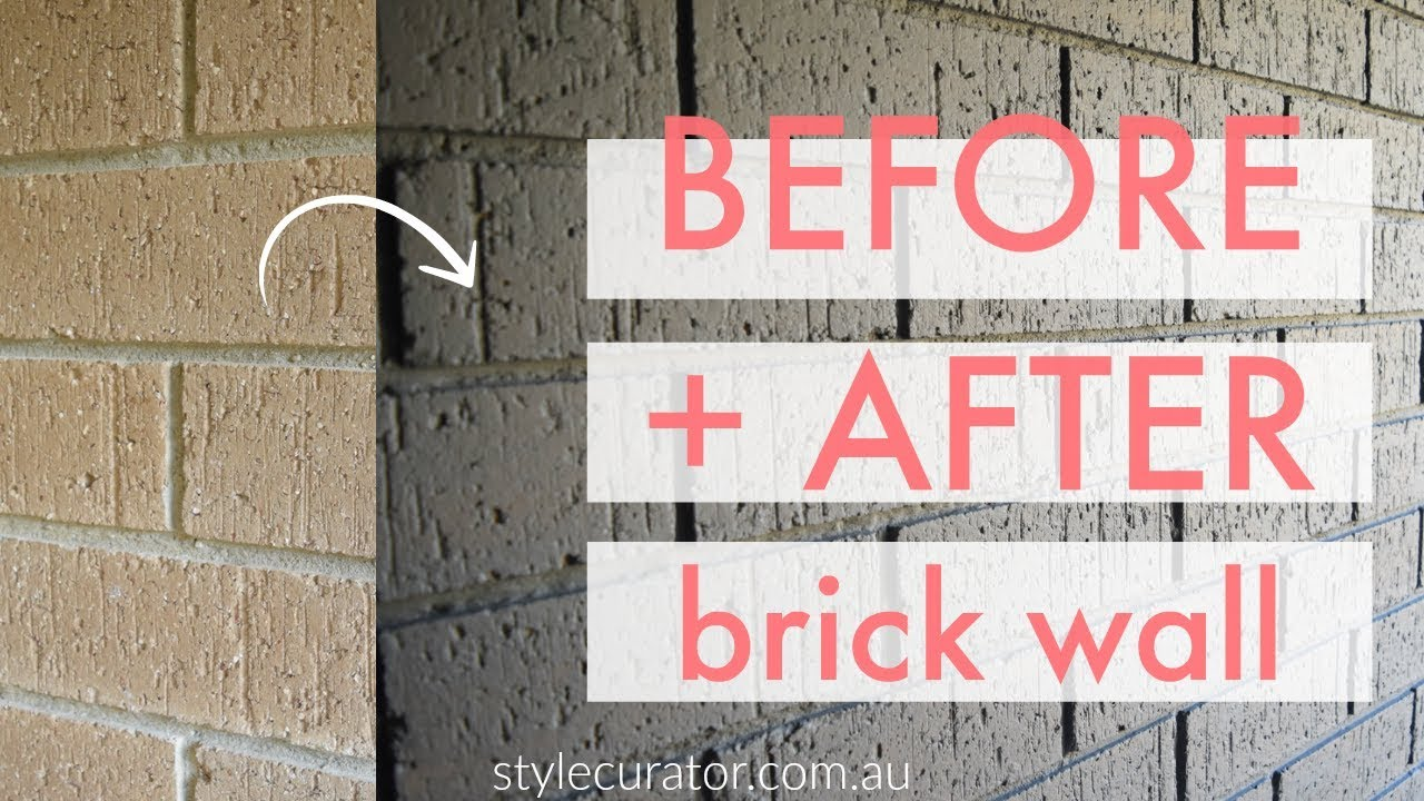 Internal Brick Wall Before And After How To Paint A