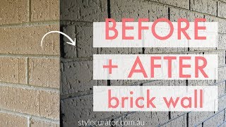 Internal Brick Wall Before And After How To Paint A Brick Wall Youtube