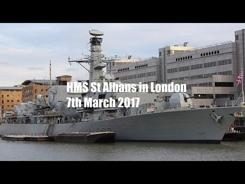 HMS St Albans in London – 7th March 2017